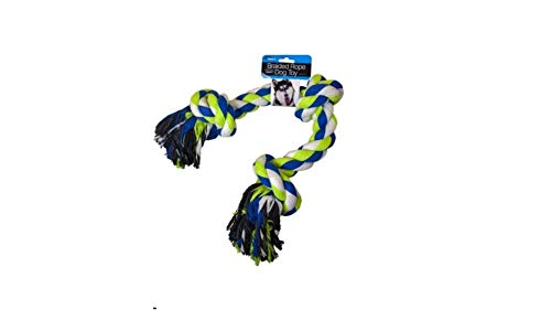 Kole Import 28' Heavy Duty Braided Rope Tug of War Dog Toy for Aggressive Chewers