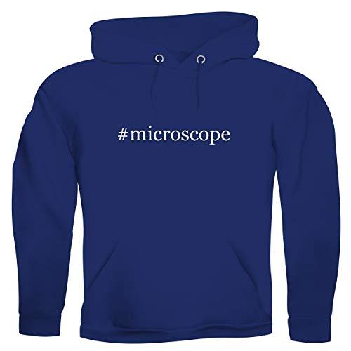 #microscope - Men's Hashtag Ultra Soft Hoodie Sweatshirt, Blue, Large