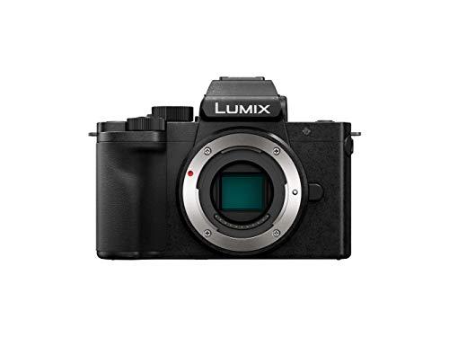 Panasonic Lumix G100 | Fotocamera ibrida compatta (sensore 4/3 20 MP, schermo oriente, tact, mirino 3680 Kpts, micro OZO Audio, video 4K, Vlog-L, WiFi) nero