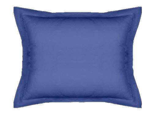 Mi Casa F.Kussen Basic 50 x 70 Blauw OSC Kussensloop, Donker, 50 x 70 cm