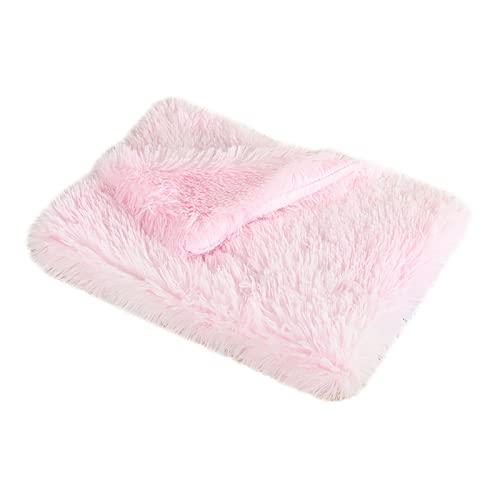 Wandskllss Cama de felpa para mascotas, gato, manta de dormir para cachorro, manta suave para perrera, colchoneta de doble capa para mascotas (G/L)