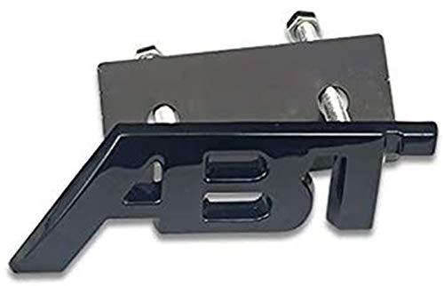 Metal Rejilla Delantera de Coche Emblema,Coche Insignia de la Etiqueta,Emblema Cromado para Parrilla Delantera y Trasera de Maletero para Audi ABT A6 C6 C5 A3 8P A4 A1 A5 A7 A8 B6 B5 R8 Q2 Q5 Q7 TT
