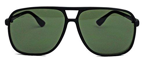 amashades Vintage Nerdies Old School Brille für Damen o Herren oversized rechteckig 80er Jahre Brillengestell als Sonnenbrille oder Nerdbrille mit Klarglas F75 (Schwarz matt / G15)