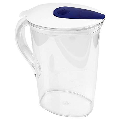 Jarra Agua De 2,1 L, Gran Capacidad Plástico Transparente Botella Agua Fría Con Tapa Envase Múltiple Té Vino Café Leche Y Jugo Bebida Jarra