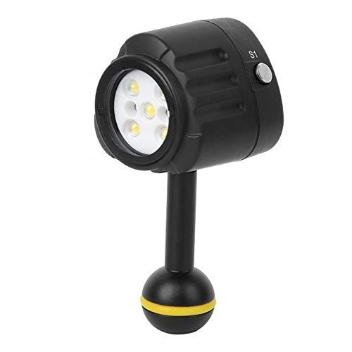 HDHUIXS Sumiso Buceo 40m Profundidad de Relleno LED Cámara Impermeable Ligera de la fotografía Compatible with la Caza de Accesorios de Buceo Fresco (Color : Black)