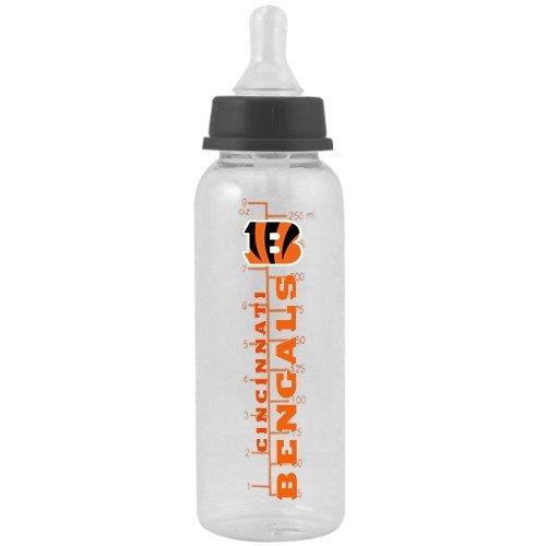 Best Buy! CINCINNATI BENGALS 9 oz. Team Logo BABY FEEDING BOTTLE with Measuring Guide