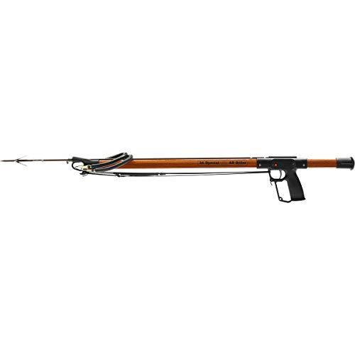 AB Biller 24in Snubnose Speargun- Mahogany for Scuba Diving and Spearfishing