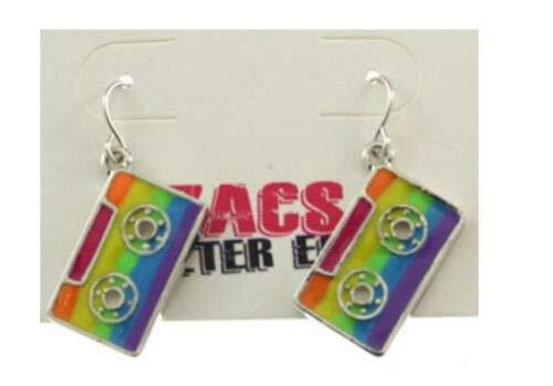 Unbekannt Gay Schwul Regenbogen CSD Pride LGBT Rainbow KOSTÜM Zubehör Armband SCHMUCK FLAGGEN HAARBÄNDER HOSENTRÄGER - vertrieb durch ABAV (1 Paar Ohrringe Kassette A119TC1120J)