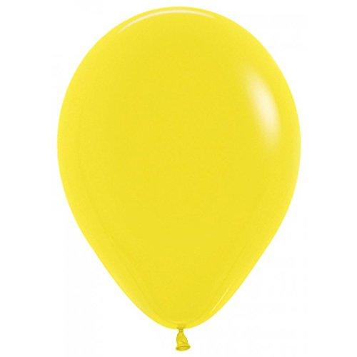 Sempertex Globos de 22,5 cm Aprox Color Amarillo Solido (50 ud)