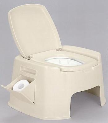 安心のSGマーク付き 新輝合成 ポータブルトイレ デラックス型(ベージュ)