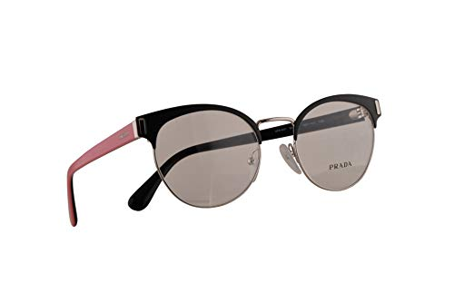 Prada VPR 63T - Gafas de sol (50-19-135, con lente transparente 1BO1O1 PR 63TV, PR63TV, VPR63T)