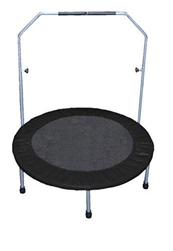 awshop24 Trampolin 100 cm schwarz Fitness Gesundheitstrampolin Minitrampolin Fun Jumping Rund 1m