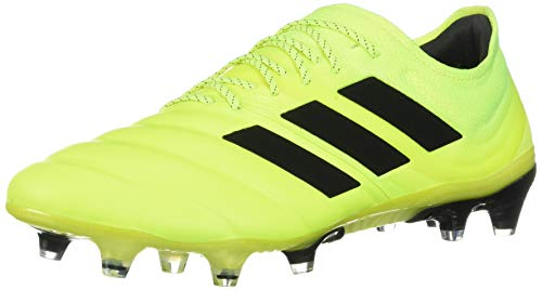 adidas Men's Copa 19.1 Firm Ground Boots Soccer, Solar Yellow/Core Black/Solar Yellow, 8.5 M US