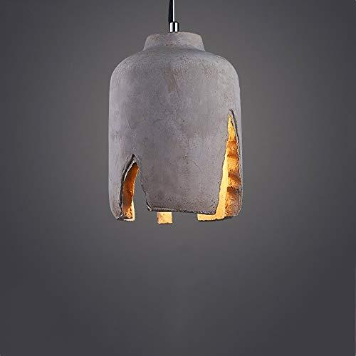 ZHAO YELONG Lámpara De Cemento Loft E27 Portalámparas Lámpara Arte Concreto Personalidad...