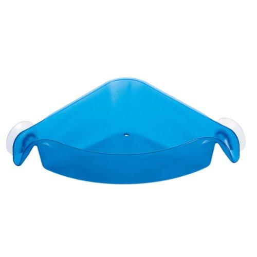 Koziol boks petit bac d'angle, bac de rangement pour salle de bain, bleu caraïbes transparent, 5242598