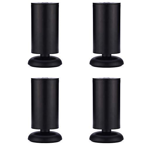 Rollen 4 x Chrom Möbel Metallfüße für Sofakissen, Schrank Schrankfüße, Sofa Füße Ersatz für Sofa Tisch Schrank Schrank Schrauben, schwarz