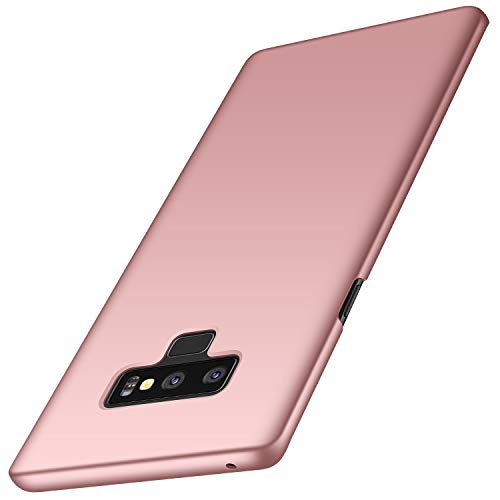 Anccer Funda Samsung Galaxy Note 9, Ultra Slim Anti-Rasguño y Resistente Huellas Dactilares Totalmente Protectora Caso de Duro Cover Case para Samsung Galaxy Note9 (Oro Rosa Liso)