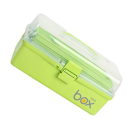 Cabilock Plastlåda verktygslåda barn verktygsväska 3 lager diamant broderi sortering låda syfack plastbehållare medicinlåda plast lådor förvaringsbox för flickor pojke