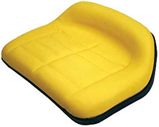 All States Medium Back Seat Vinyl Yellow Compatible with John Deere RX73 F510 130 RX75 160 RX95 185 111 180 RX63 SX75 SX95 116 175 108 165 170 TY15862