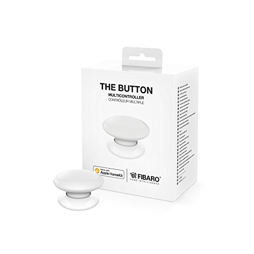 FIBARO The Button White iOS Blueetoth Smart Multicontroller, On-Off Switch, 3.6 V, one size
