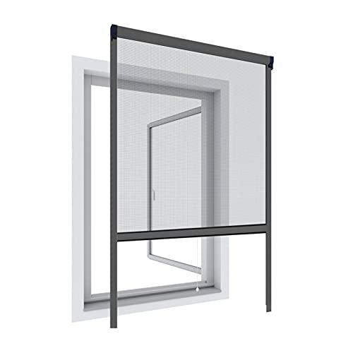 WIP Alu-Insektenschutz Fensterrollo 130x160cm, anthrazit