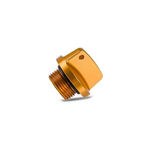 YINZHI Cubierta de tapón de llenado de Aceite Ajuste para Suzuki GSXR600 GSXR750 GSXR1000 SV V Strom 250 650 1000 BANDIDES 1200 S GSR 400 750 RM RMZ 80 85 125 450 (Color : Gold)