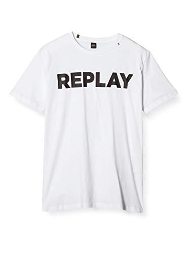 REPLAY M3594 .000.2660 Camiseta, Blanco (White 1), X-Small para Hombre