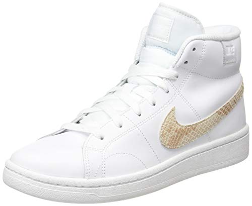 Nike Wmns Court Royale 2 Mid, Zapatillas Deportivas Mujer, White Particle Beige Black, 37.5 EU
