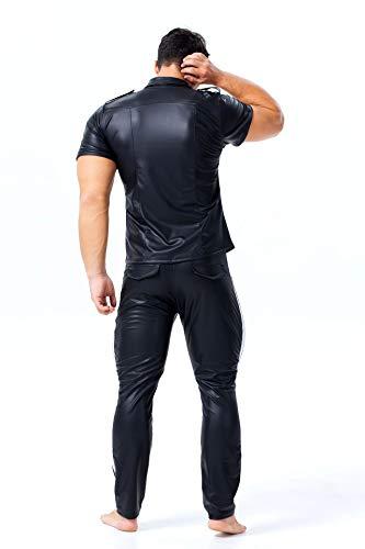 S-XXXLHombres Allure Leather Uniform Punk Style Tight Plus Size ...