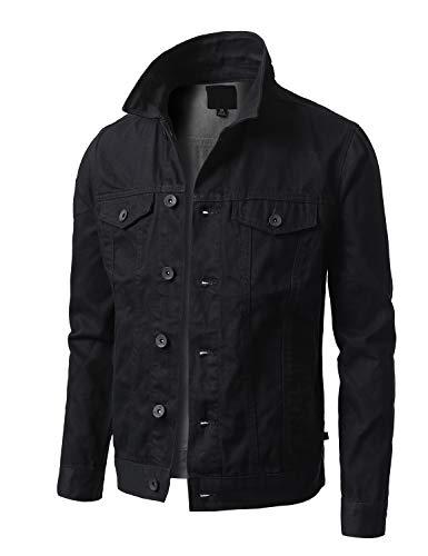 Jet Black Denim Jackets for Men's