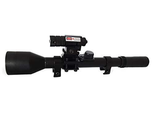 4x28 láser Visor telescópico Mira para Armas de Aire comprimido - carabinas y escopetas de balines - Airsoft (Actividades Deportivas)