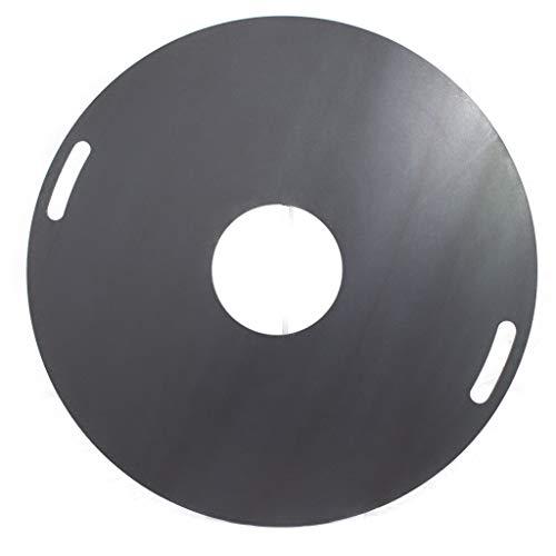 A. Weyck Tools Feuerplatte für Feuertonnen & Kugelgrills Grillplatte Plancha BBQ 04 (100cm #04)