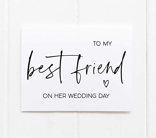 Wedding Card for Bride, To My Best Friend Wedding Gift for Her, Best Friend Gifts, Congratulations Handmade Cards for Bride, Bestie