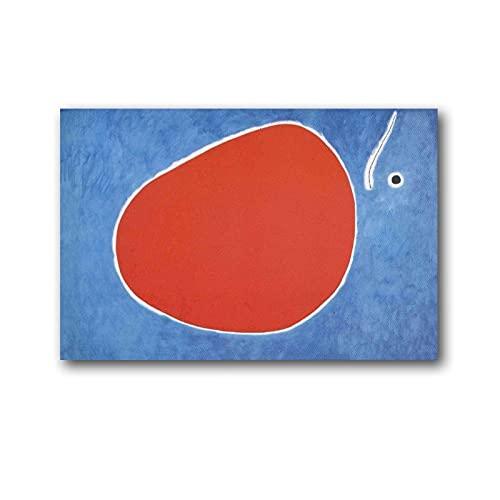 Joan Miro Trollsländans flyg framför solen målning på duk väggkonst affisch rullning bildtryck vardagsrum väggar dekor hem affischer 20 × 30 cm (08 × 12 tum)