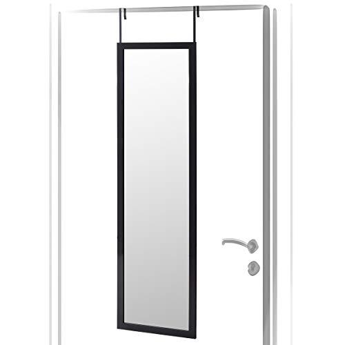 Espejo de Puerta Negro Moderno de plástico de 35 x 125 cm - LOLAhome