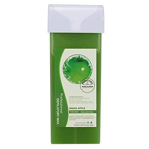 Cera depilatoria, Crema depilatoria con ingrediente natural de trementina, fácil de aplicar para depilación corporal para toda la piel(Green apple, Santa Claus)