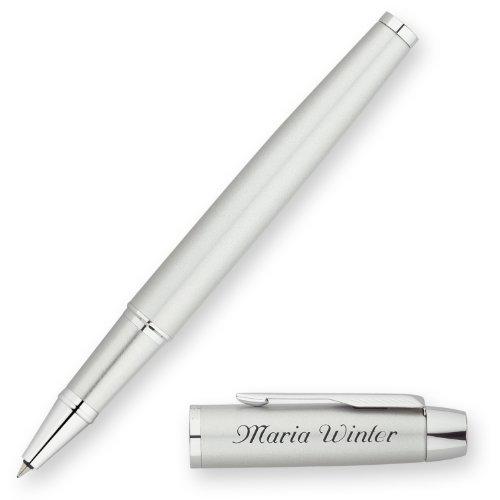 PARKER Tintenroller IM Silber C.C. S0856370 mit persönlicher Laser-Gravur