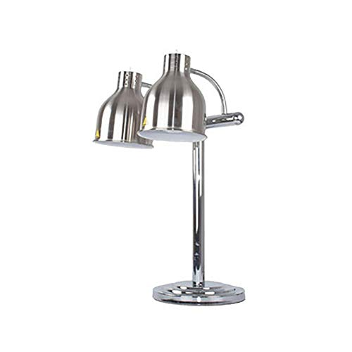 PEDFIl Cibo Riscaldamento Warmer Lampada di Riscaldamento Alimentari Lampada-Stainless Steel Base-utilizzato for Mantenere la Temperatura del cibo-250W Adatto for Kitchen Restaurant Dinner Table