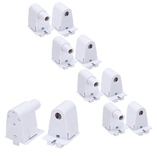 JOMITOP 5 Pairs Tombstone Base Holder Socket Connector with T8 Single Pin FA8 8ft LED Bulb Light Replacement Fluorescent Plunger