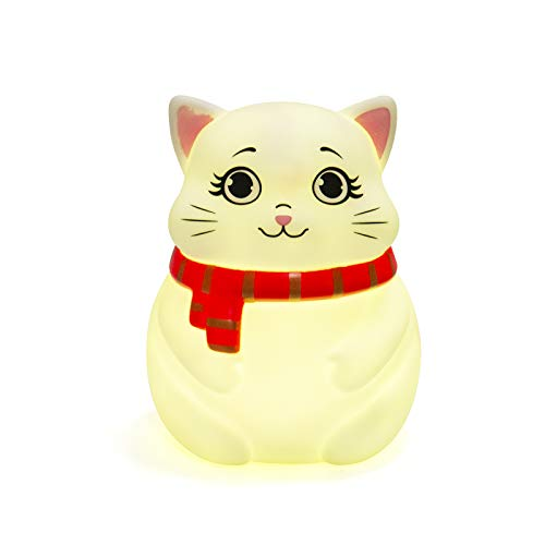 Cute Night Lights for Kids Soft Cat Lights for Toddler Baby Rechargeable Touch LED Lamps for Nursery Breastfeeding Perfect Girls Boys Gifts Cool Children Bedrooms Decor Newborn Essentials