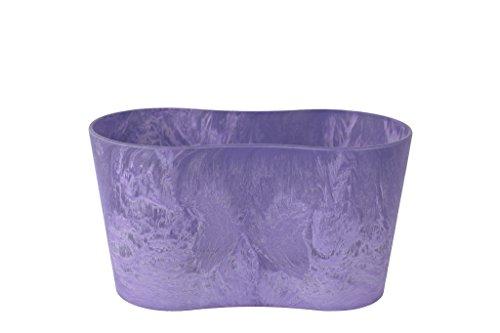 Artstone Vaso da fiori, per piante duo Claire, resistente al gelo e leggero, Viola, 20x11cm