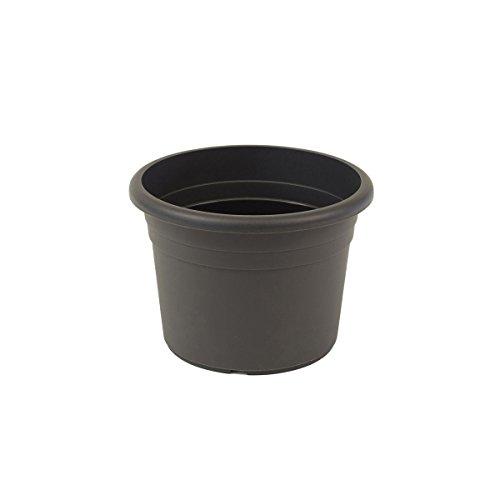 Jardinera greemotion Fiona, maceta de plástico resistente a los rayos UV, maceta con orificios inferiores, volumen aproximadamente 1,5 l, aproximadamente Ø 18 x H 12.7 cm