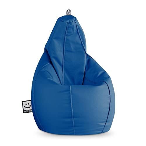 HAPPERS Puff Pera Polipiel Interior Azul XL