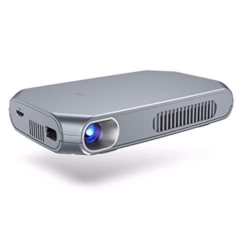 TTHH Proyector Inteligente, Proyector Conveniente DLP, Bluetooth WIF De Doble Banda Android, Pantalla Inalámbrica De Entrada HDMI, Definición Ultra Alta 1080P, Corrección Trapezoidal Automática.