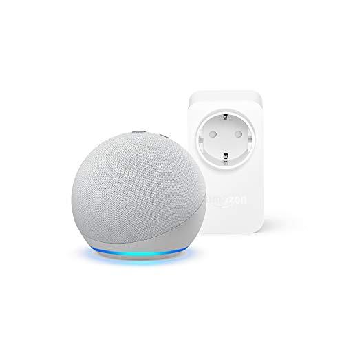 Echo Dot (4.ª generación), Blanco + Amazon Smart Plug (enchufe inteligente WiFi), compatible con Alexa