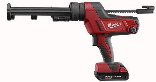 MILWAUKEE ELECTRIC TOOL DISPENSING TOOLS 2493499 10 oz M18 Caulk And Adhesive Gun Kit, Cordless