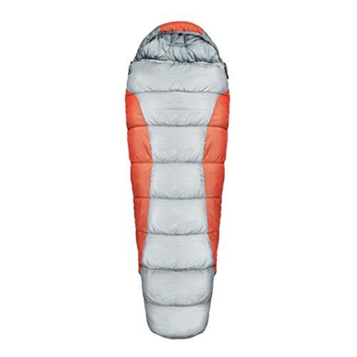 MagiDeal Sac de Couchage Confort Léger/Grand/Imperméable Chaud, 4 Saison pour Camping Extérieur Randonnée, Randonnée - Orange, 230cm