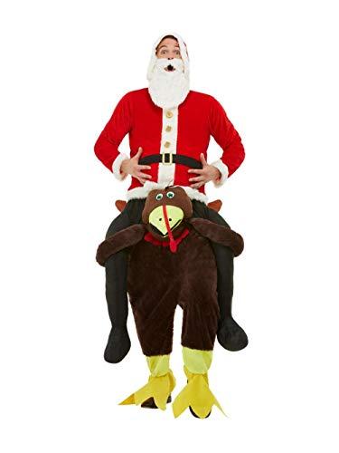 Smiffys 61029 Piggyback Turkije Kostuum, Mannen, Rood, One Size