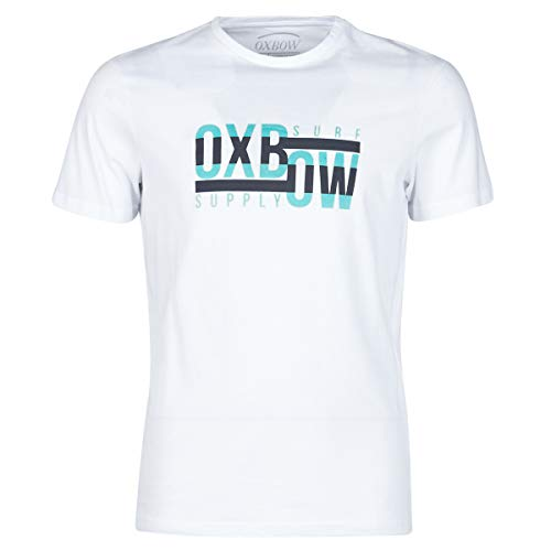 Oxbow N1THOMY Camiseta de manga corta gráfica Hombre, Blanco, M