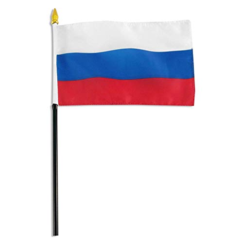 Russia 4 x 6 inch World Stick Flag Made in USA by Annin
